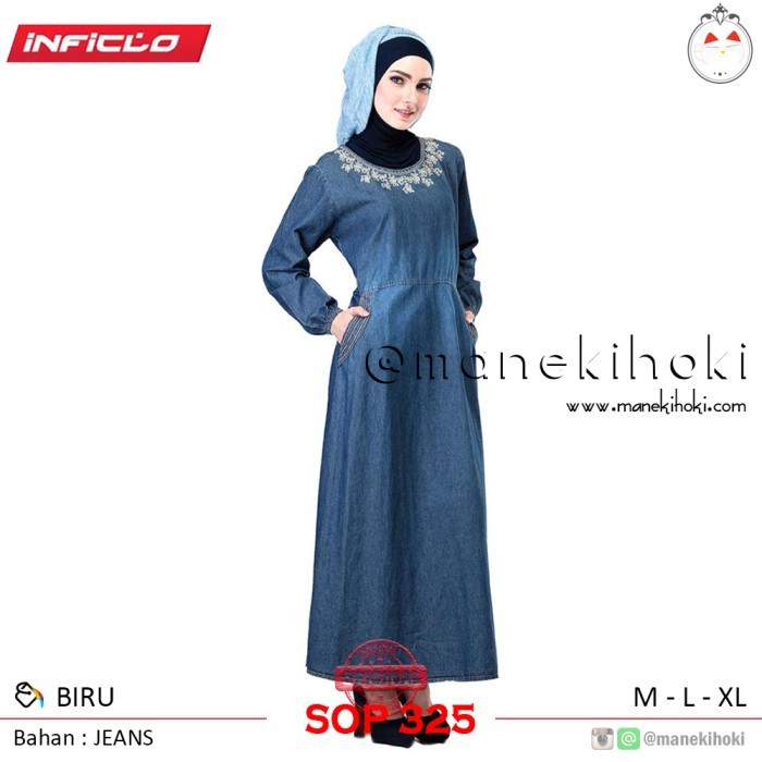 Foto Produk Gamis - Busana Muslim Wanita - SOP 325 - Original Inficlo dari Maneki
