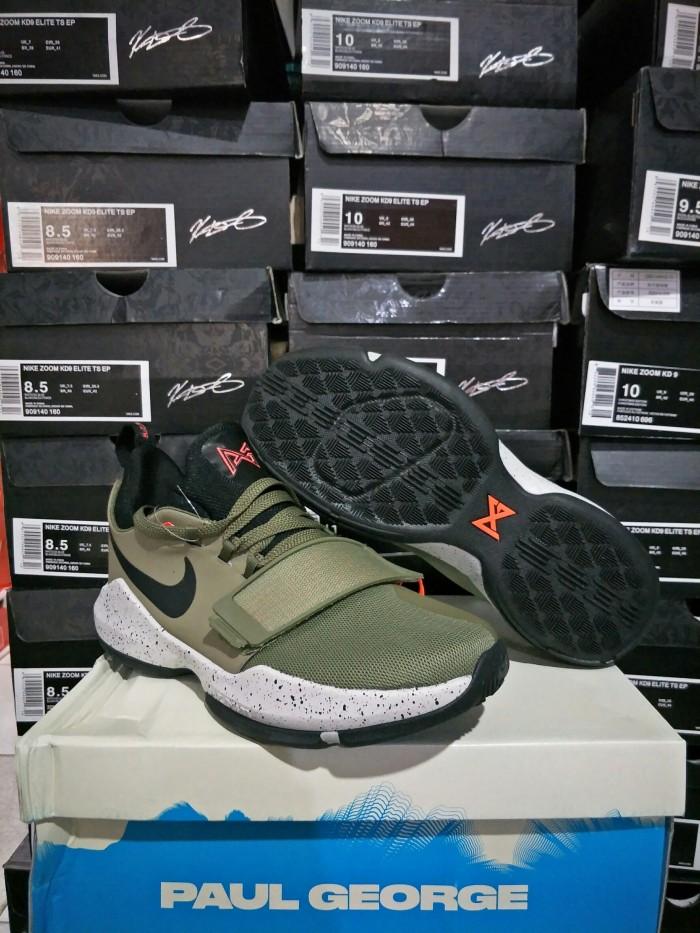 35c29d0c14 Sepatu Basket Nike PG 1 Olive Suede / Paul George / Jordan / Lebron