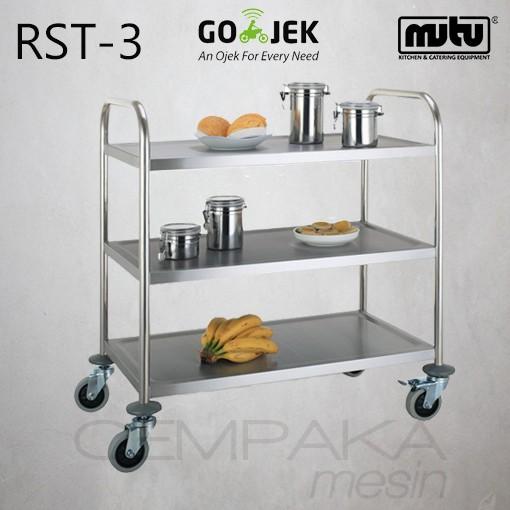 harga Trolley stainless steel pengantar makanan restoran rst-3 khusus gojek Tokopedia.com