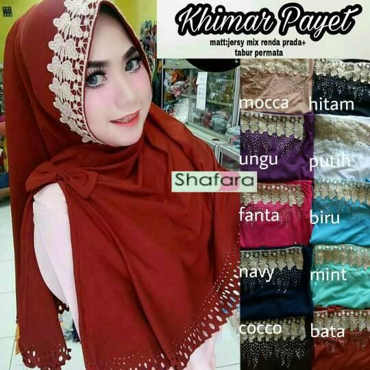 Jual Khimar Payet Renda Prada Hijab Instan Hijab Syar I Jilbab Murah Kota Surakarta Klamben Tokopedia