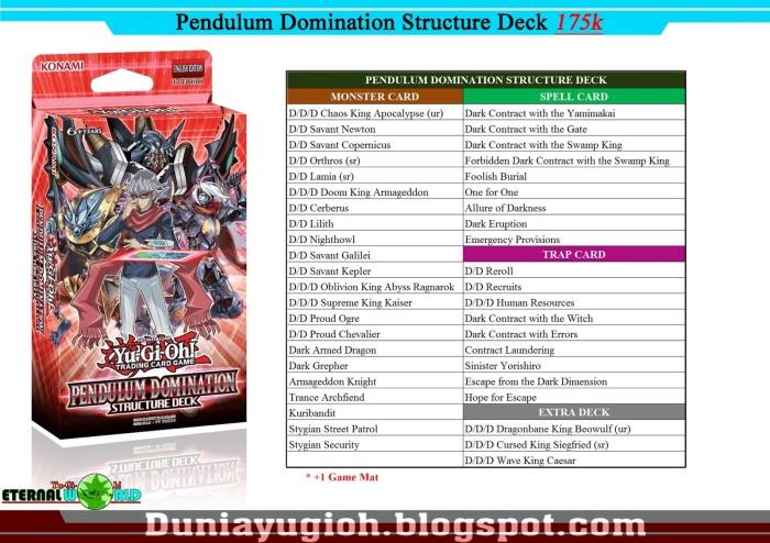 harga Yugioh structure deck pendulum domination (ori) Tokopedia.com