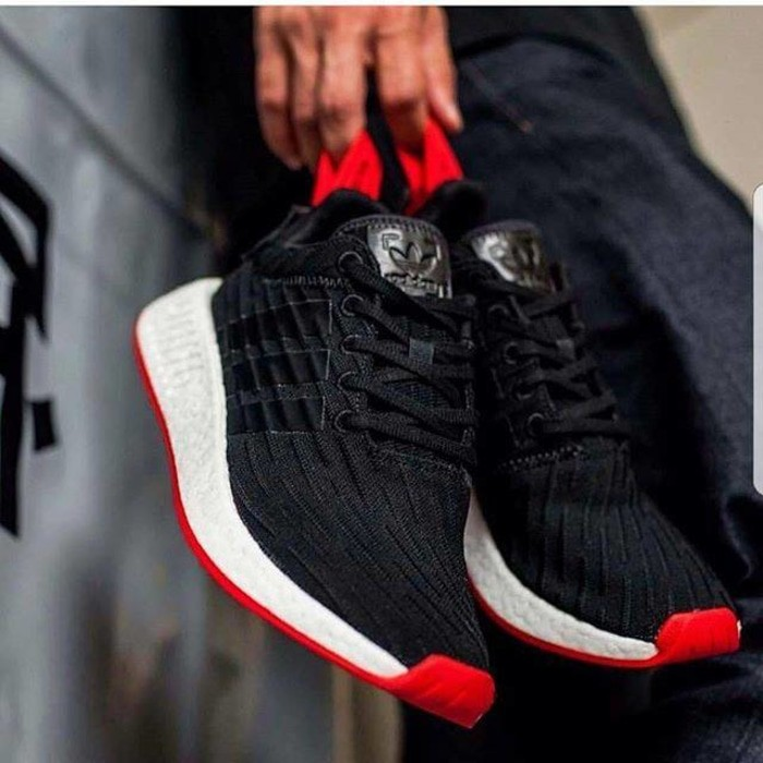 b667efc05 Jual Adidas NMD R2 primeknit Black Red Premium Original - Ratu ...