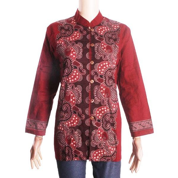Foto Produk atasan batik wanita lengan panjang model blouse bahan katun dari Apa-Aja Shop