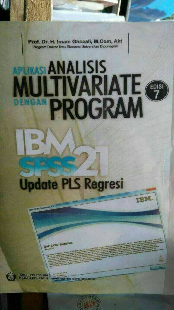 harga Aplikasi analisis multivariate dengan program ibm spss21 edisi7 Tokopedia.com