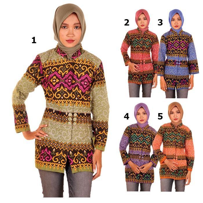 harga Blus batik | blouse batik | kemeja batik wanita laksmi - motif anjani Tokopedia.com