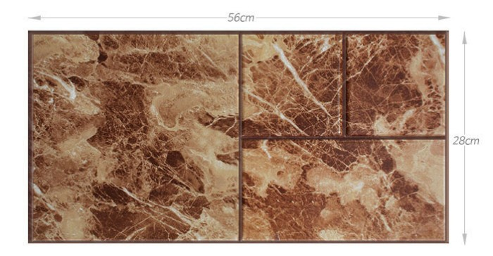 FIX MARBLE 3D WALLCOVER BROWN MARBLE - SDM 27504 EMBOSSED .
