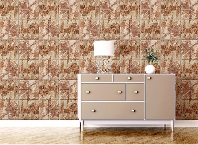 ... FIX MARBLE 3D WALLCOVER BROWN MARBLE - SDM 27504 EMBOSSED (WALLPAPER&# ...