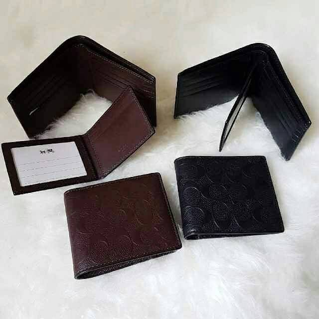 Coach emboss men bifold wallet set. dompet pria branded original