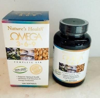 harga Nature health omega 3-6-9 minyak ikan 100 softgel Tokopedia.com