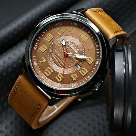 harga Jam tangan pria timberland date analog ring black leather Tokopedia.com