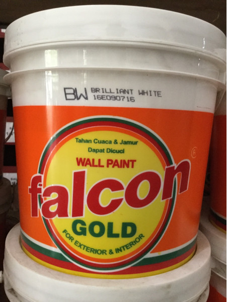 harga Promo cat tembok exterior falcon gold  25kg lengkap semua warna !!! Tokopedia.com