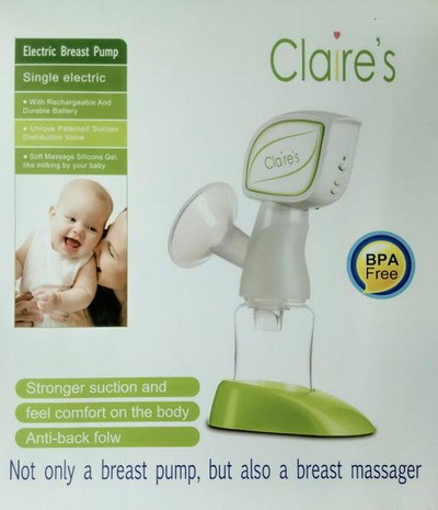 Claire's Single Electric Breastpump Pompa ASI Elektrik