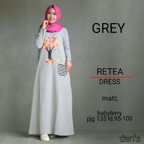 Produk retea dress resmi dijual oleh berhiber_hijaber melalui tokopedia dibandrol dengan harga promo Rp 85.000 dan