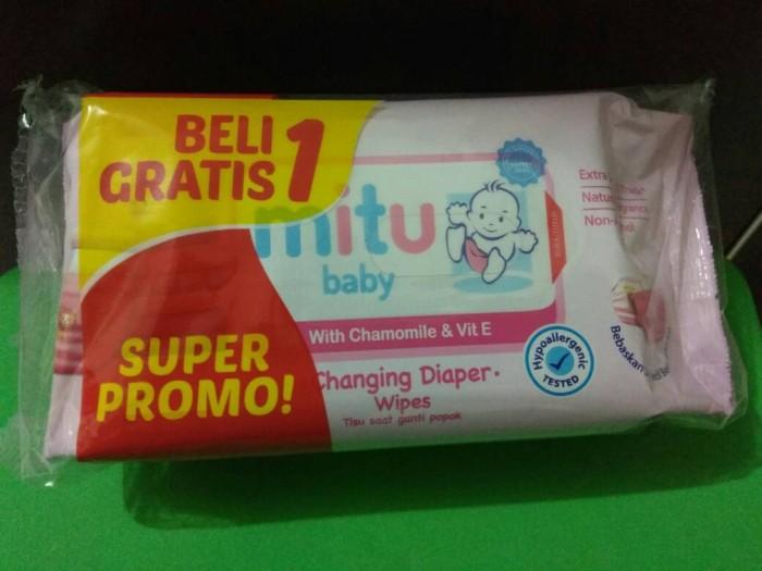 harga Mitu pink baby ganti popok pink tissue basah (50's) ( buy 1 get 1 )