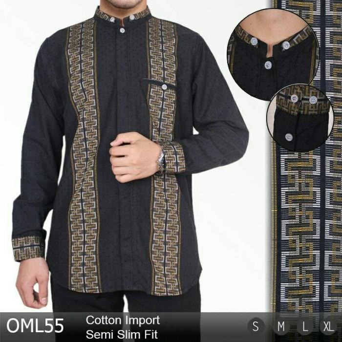 Baju Koko Busana Muslim Pria Modern OML55