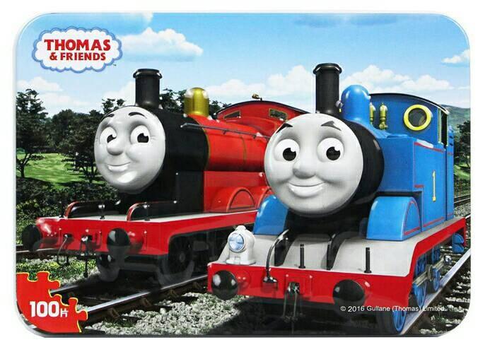 Puzzle Jigsaw Kaleng 100 Potong Thomas the Train