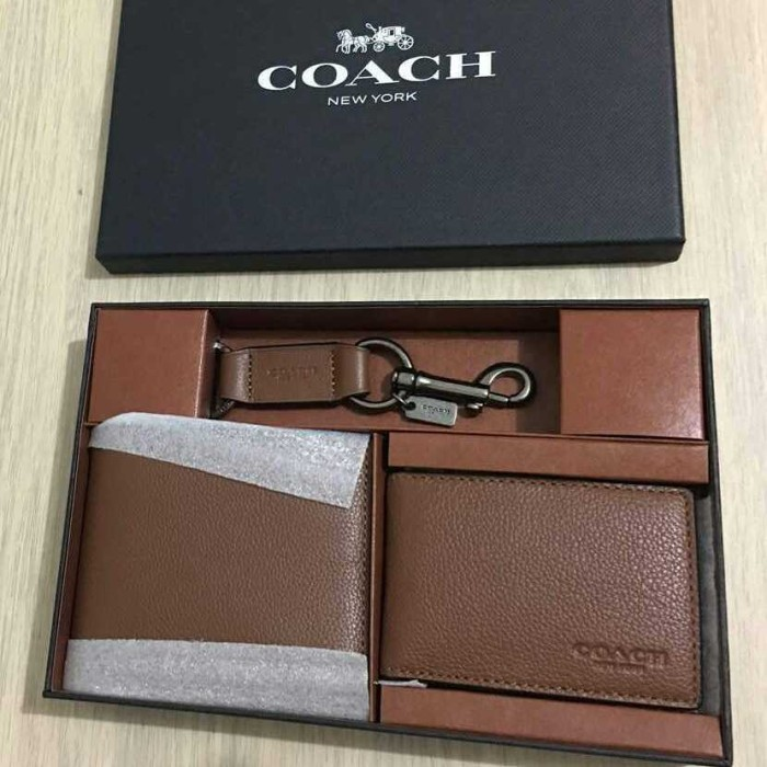Jual Coach Men Gift Set Wallet Saddle. Dompet Coach Original Men ... 44d590b4f8