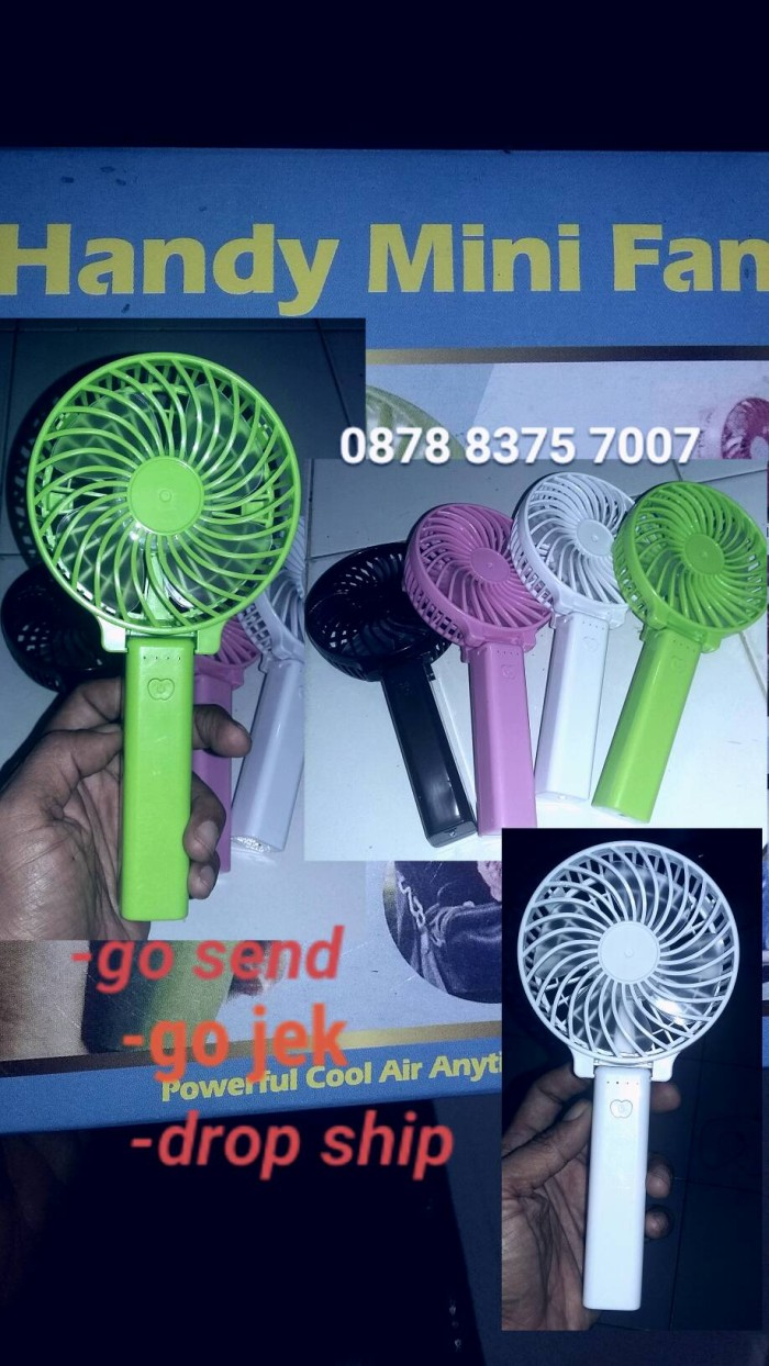 Jual Kipas Angin Mini Usb Handy Fan Sedia Pb Kekt Festron