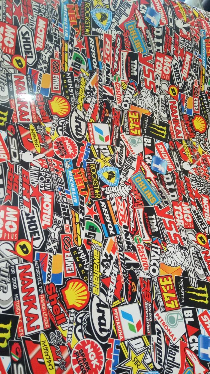 Stiker motif racing utk motor mobil by stickermart