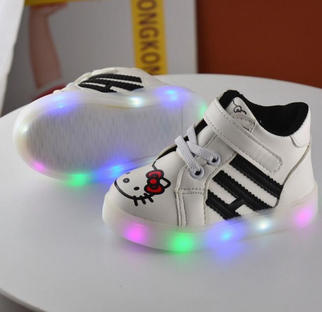 harga Sepatu lampu led anak perempuan hello kitty nyala Tokopedia.com
