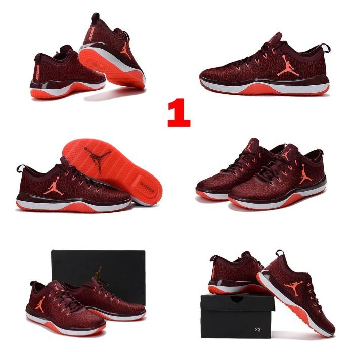 be94991b57d3 Pre Order Sepatu Basket NBA Air Jordan Trainer 1 Low Merah Hitam IMPOR. Toko  dalam status moderasi