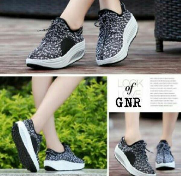 Sepatu Wanita Sepatu Kets Sport Sneakers Wedges Boot High Heels Cewek