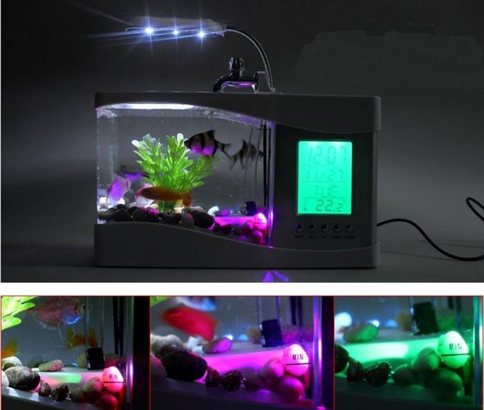 harga Usb desktop aquarium with running water & lcd display - akuarium mini Tokopedia.com