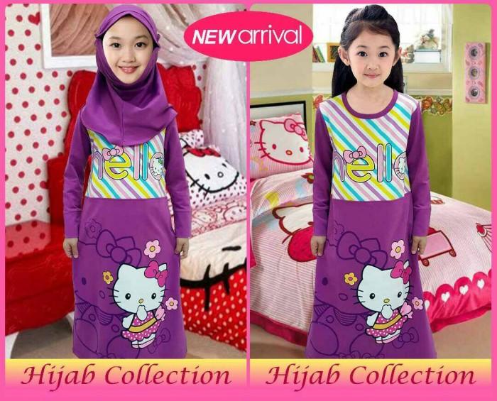 harga Grosir gamis /hijab anak karakter motif hk ungu 2-12 Tokopedia.com