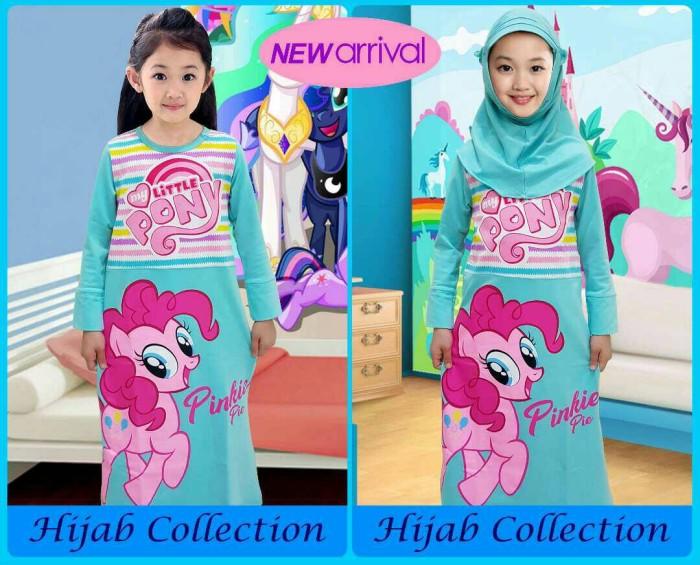 harga Grosir gamis /hijab anak karakter motif pony tosca 2-12 Tokopedia.com
