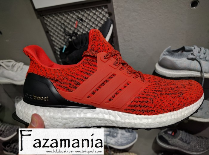 Jual Sepatu Adidas Ultra Boost ENERGY RED ORIGINAL - Fazamania ... 270e21084e