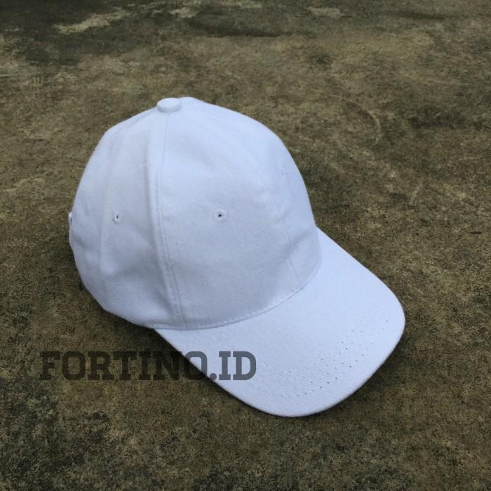 Jual Topi Polos Putih White Baseball Cap Unisex Pria Wanita Casual ... 98439a0cdc
