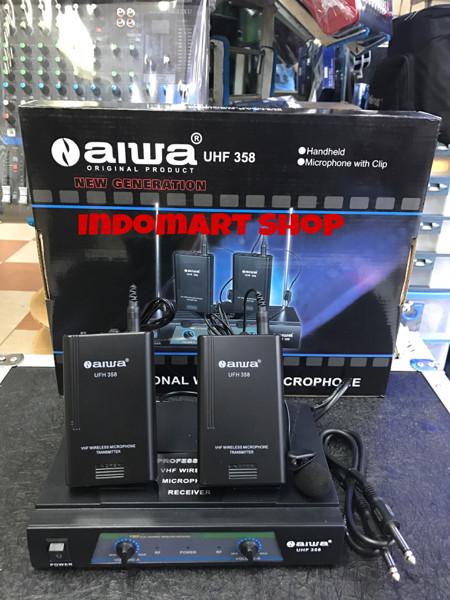 harga Mic wireless aiwa uhf 358 clip on Tokopedia.com