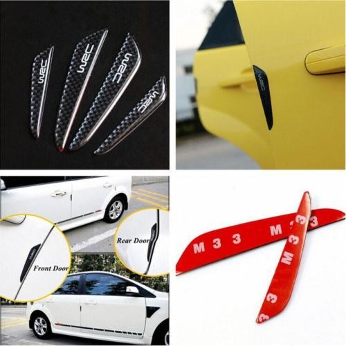 Car Door Edge Anti-rub Guards Trim Molding Protection Strip Scratch Protector 4x