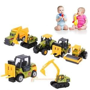 5pcs 1:64 Scale Dump Truck Diecast Construction Vehicle Cars Lorry Toy