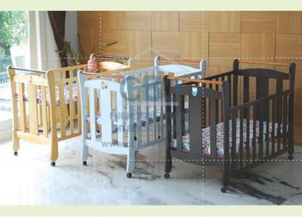 Hakari tempat tidur bayi baby box kayu tanpa kelambu bella ttba-hk-044