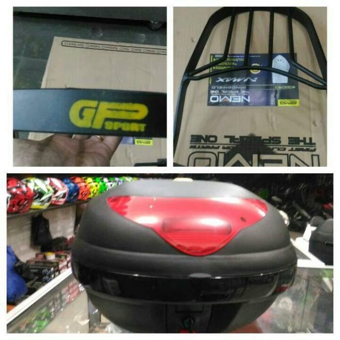 harga Box motor kmi 688 black includ breket box gp sport untuk semua motor Tokopedia.com