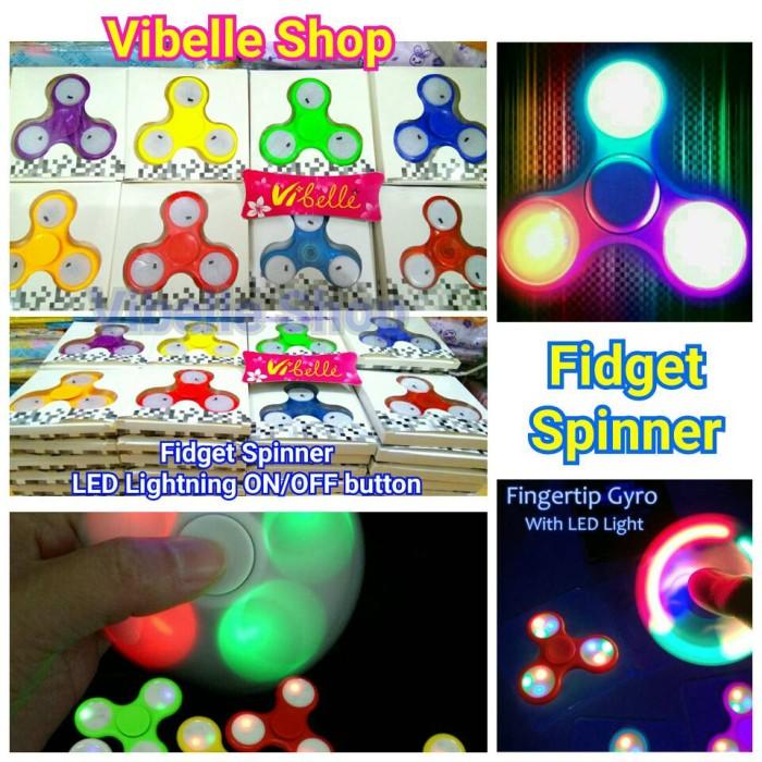 Fidget Spinner LED Tombol ON OFF Hand Spinner Lampu LED Bagus Murah