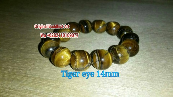 harga Gelang batu tiger eye 14mm Tokopedia.com