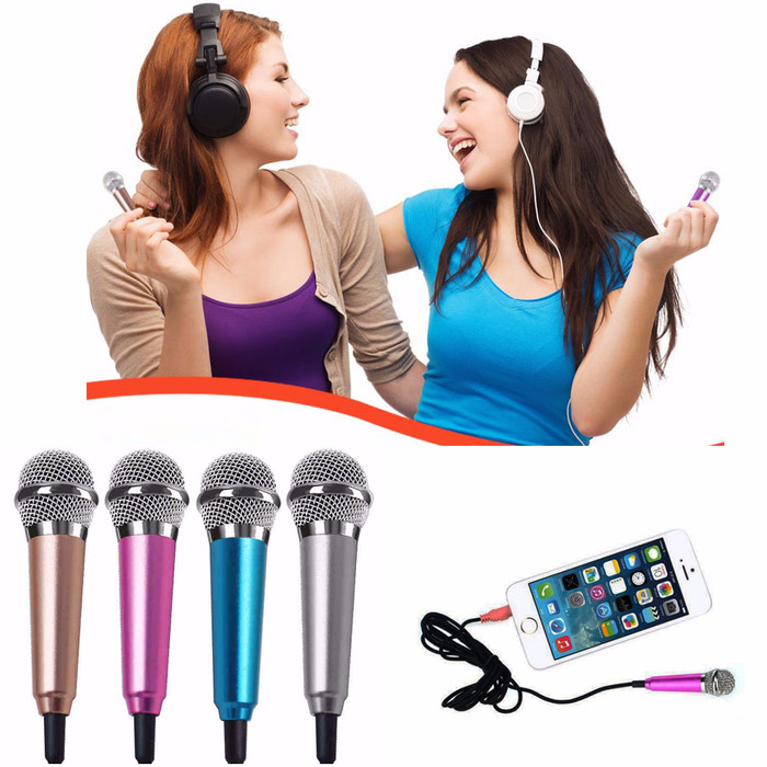 Mini Microphone Wired Sing KARAOKE Mic HP Android / iOS / PC Smule Top