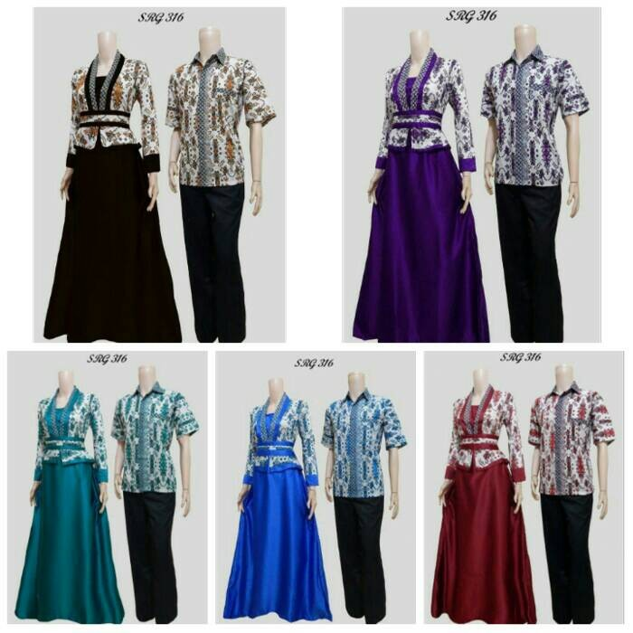 harga Batik couple srg 316 gamis velvet/batik kebaya 316 gamis velvet Tokopedia.com