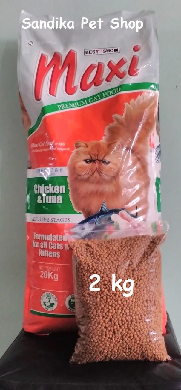 Jual Makanan Kucing Cat Food MAXI REPACK CHICKEN AND TUNA 2 KG Jakarta Timur Sandika Petshop