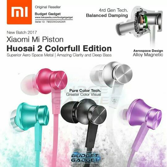 harga Xiaumi Mi Piston Housai 2 (original) Colourful Earphone Headset Tokopedia.com