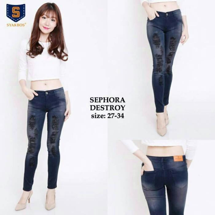 Jual Celana Legging Soft Jeans Tebal Berlapis Motif Sobek Jakarta Pusat Ashyanafashion Tokopedia