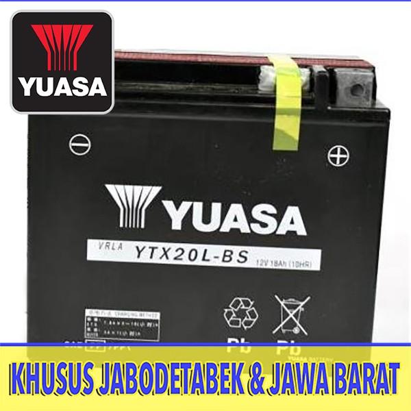 harga Aki baterai tuasa ytx20l-bs honda goldwing 1800 harley softai custom Tokopedia.com