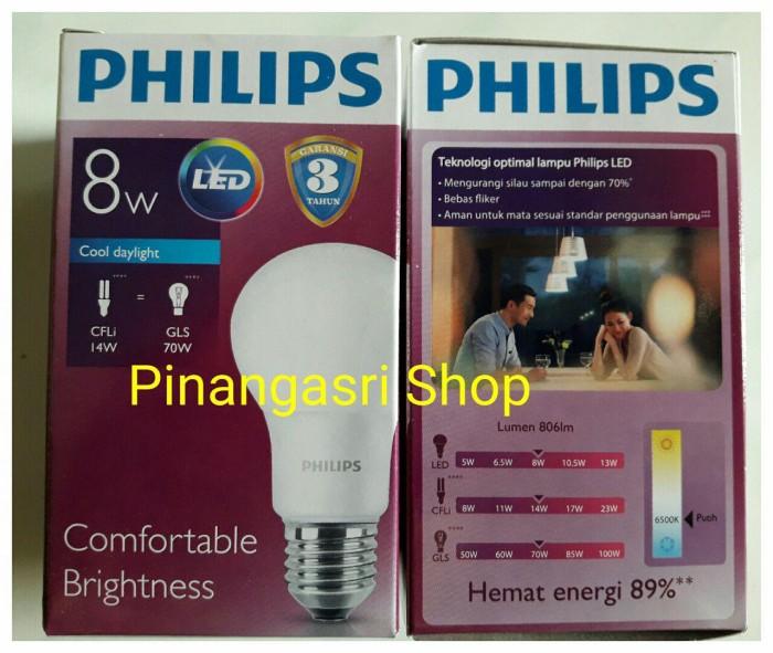 harga Lampu led philips 9 watt bohlam 9w / philip putih 9 w bulb led 9watt