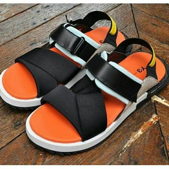 56df0e50c6dba Jual Adidas Y3 Yohji Yamamoto Kaohe Sandals Black Total Orange ...