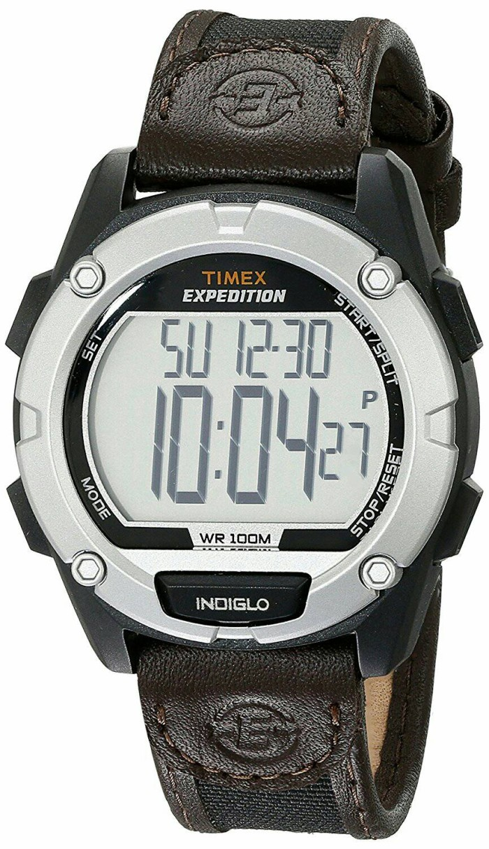 Jual Jam Tangan Timex Men Expedition Mix leather strap T49948 ... a138d75f35