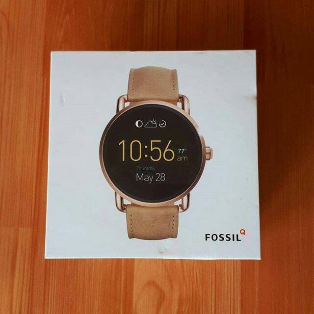 Jual Fossil Q Wander Gen 2 Smartwatch Strap Leather Tan Kota