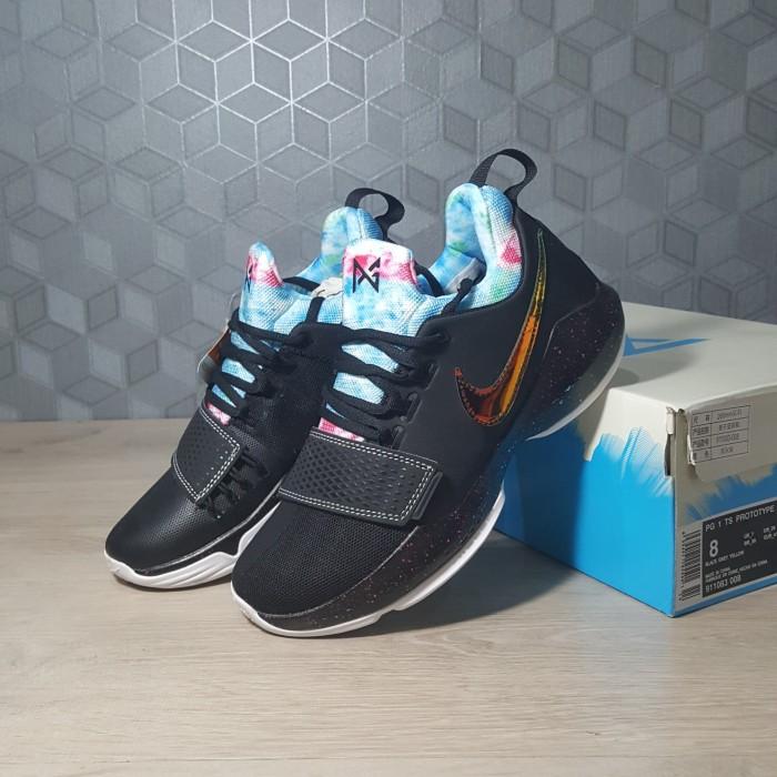 f424f0b91a16 Jual Sepatu Basket Nike Nike PG 1 (Paul George) - EYBL (Hitam Emas ...