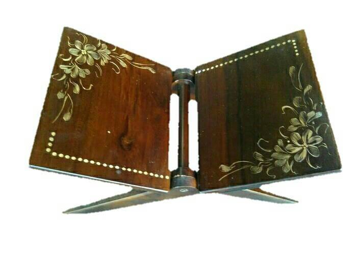 harga Rekal meja lipat al-qur'an kayu jati motif cukit Tokopedia.com